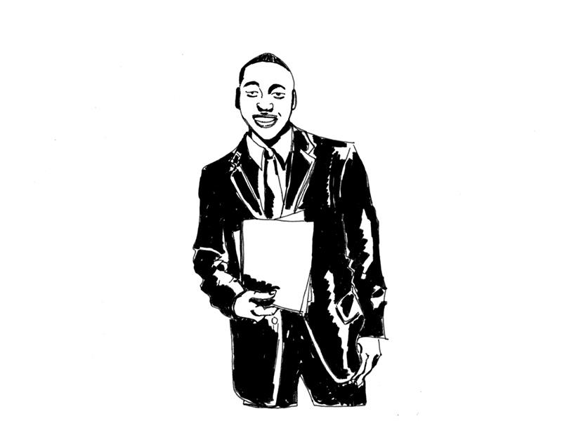 man smiling suit