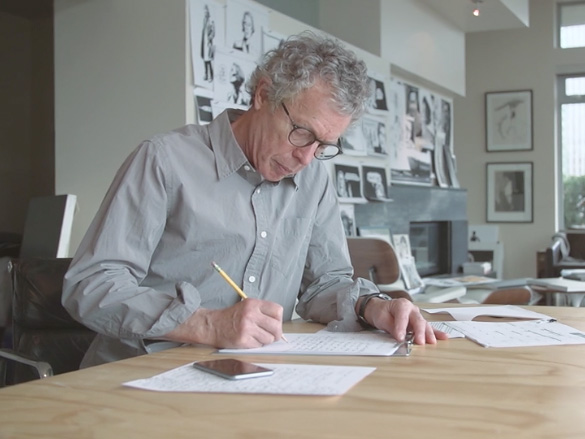 Ted writing